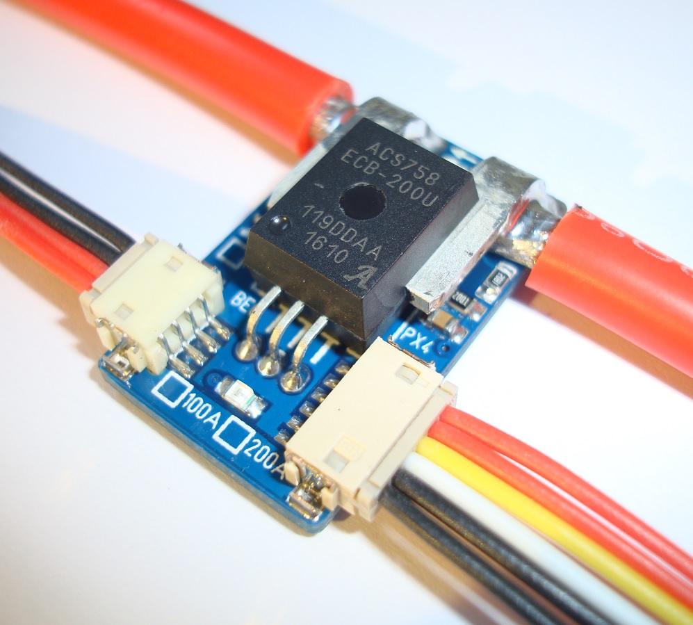 100A / 200A Hall Sensor PM for Pixhawk / APM - HS - Sensor
